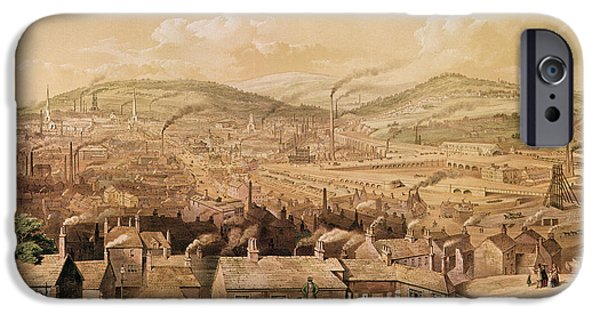 View Of Industrial Sheffield IPhone Case by English School