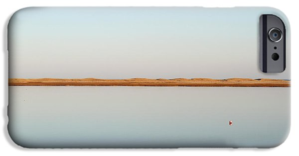 View Over Tranquil Waters Towards Dunes IPhone Case by Susan Pease