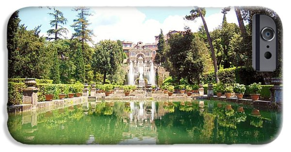Villa Este Reflections IPhone Case by Marilyn Dunlap