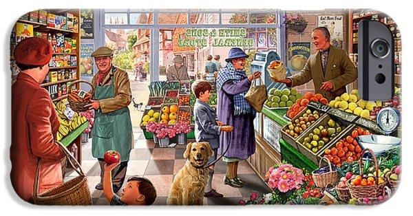 Village Greengrocer  IPhone Case by Steve Crisp