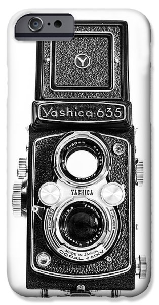 Vintage 1950s Yashica 635 Camera IPhone Case by Jon Woodhams