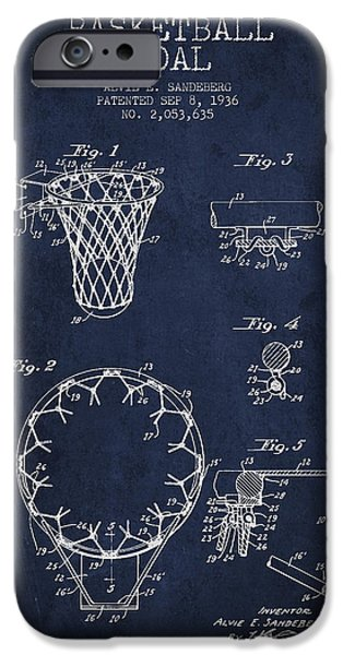 Vintage Basketball Goal Patent From 1936 IPhone Case by Aged Pixel