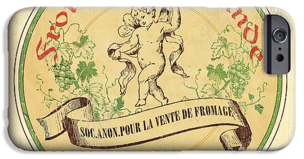 Vintage Cheese Label 2 IPhone Case by Debbie DeWitt
