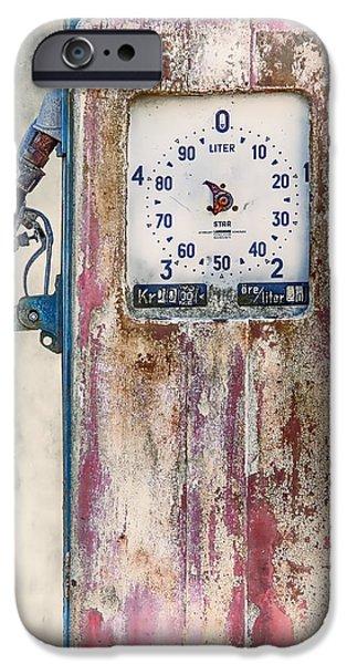 Vintage Gaspump IPhone Case by Erik Brede
