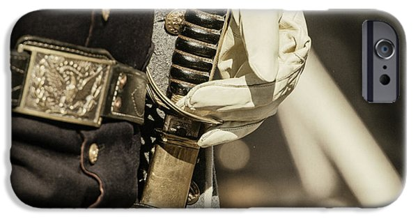 Vintage Image Of Soldier With Civil War IPhone Case by Sheila Haddad
