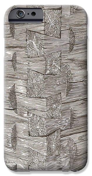 Vintage Log Cabin Corner Detail IPhone Case by Jack Pumphrey