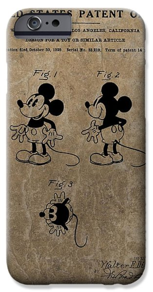 Vintage Mickey Mouse Patent IPhone Case by Dan Sproul