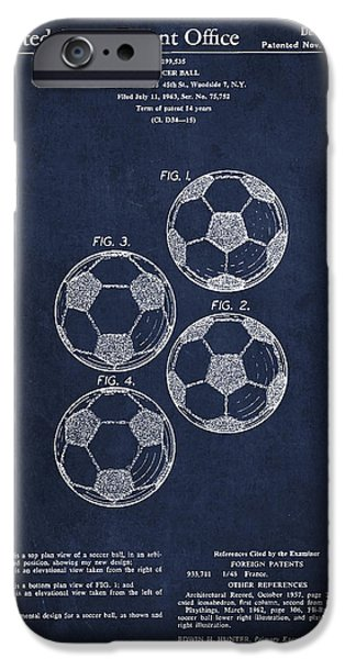 Vintage Soccer Ball Patent Drawing From 1964 IPhone 6s Case by Aged Pixel
