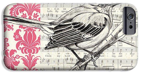 Vintage Songbird 4 IPhone Case by Debbie DeWitt