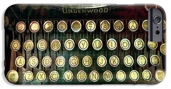 Vintage Underwood Typewriter IPhone Case by Bellesouth Studio
