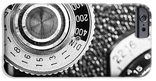 Vintage Yashica 635 Camera - Asa Dial IPhone Case by Jon Woodhams