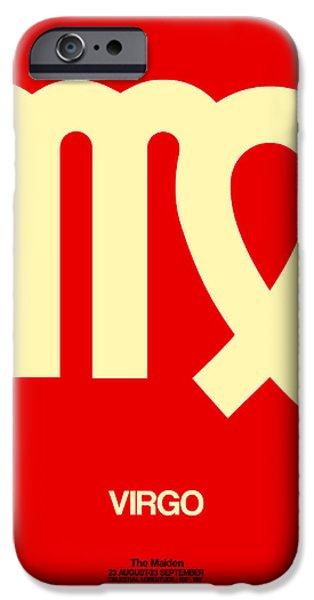 Virgo Zodiac Sign Yellow IPhone Case by Naxart Studio