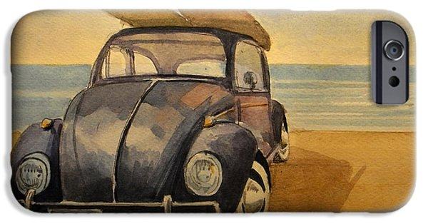 Volkswagen Beetle IPhone Case by Juan  Bosco