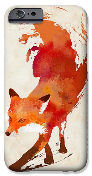 Fox IPhone Case featuring the mixed media Vulpes Vulpes by Robert Farkas