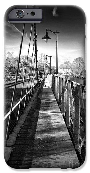 Walking The Riegelsville Bridge IPhone Case by John Rizzuto