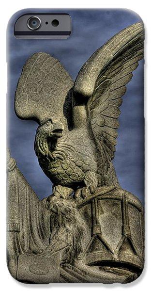 War Eagles - 88th Pa Volunteer Infantry Cameron Light Guard-a1 Oak Hill Autumn Gettysburg IPhone Case by Michael Mazaika