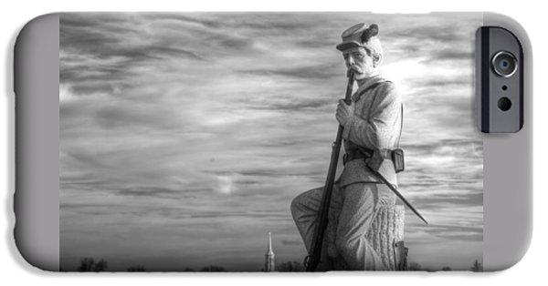 War Fighters - 149th Pa Infantry 1st Regiment Bucktail Brigade-a1 Near Mc Pherson Barn Gettysburg IPhone Case by Michael Mazaika