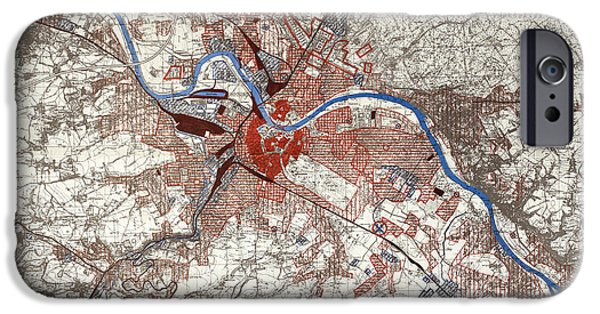 War Map Of Dresden IPhone Case by British Library