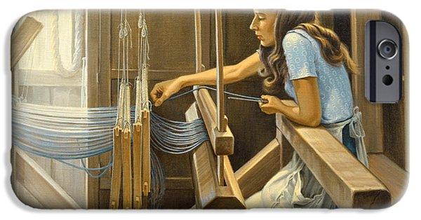 Warping The Loom  IPhone Case by Paul Krapf
