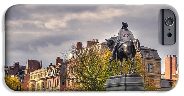 Washington And The 617 - Boston IPhone Case by Joann Vitali