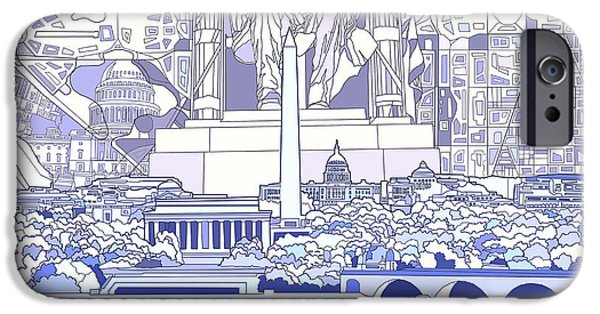 Washington Dc Skyline Abstract 3 IPhone 6s Case by Bekim Art