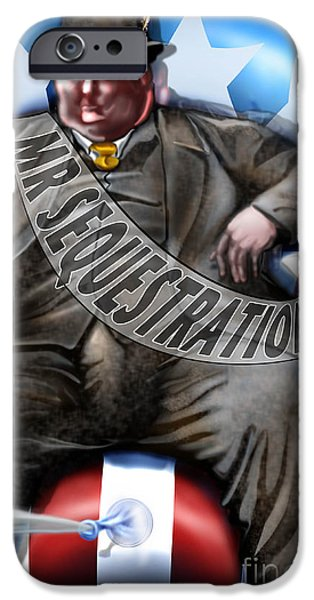 Washington Sitting Down On The Job IPhone Case by Reggie Duffie