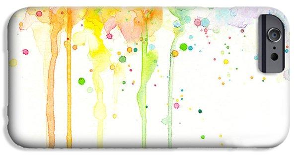 Watercolor Rainbow IPhone Case by Olga Shvartsur