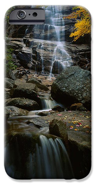 Waterfall In A Forest, Arethusa Falls IPhone Case by Panoramic Images