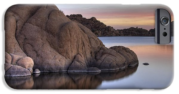 Watson Lake Arizona Colors IPhone Case by Dave Dilli