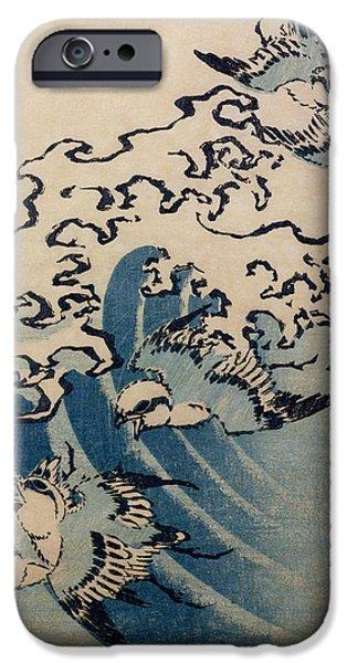 Waves And Birds IPhone 6s Case by Katsushika Hokusai