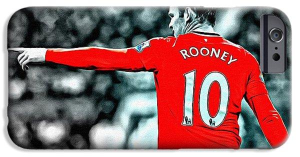 Wayne Rooney Poster Art IPhone 6s Case by Florian Rodarte