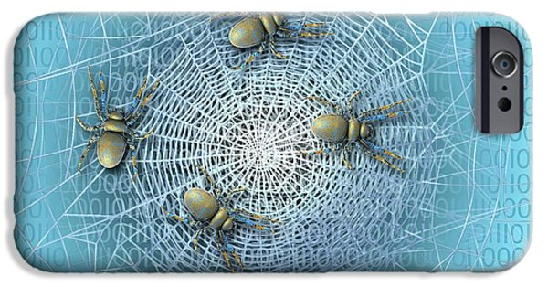 Web Crawlers IPhone Case by Carol & Mike Werner