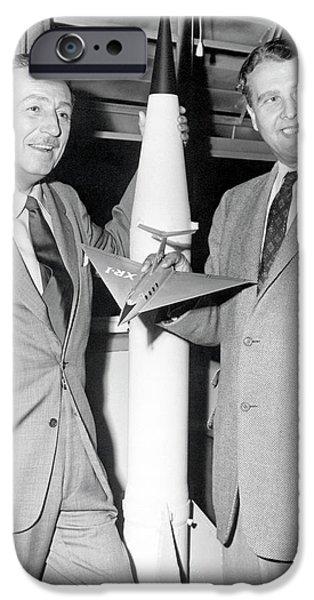 Wernher Von Braun And Walt Disney IPhone Case by Nasa/marshall Space Flight Center