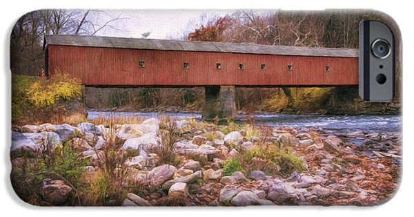 West Cornwall Covered Bridge 2 IPhone Case by Joan Carroll