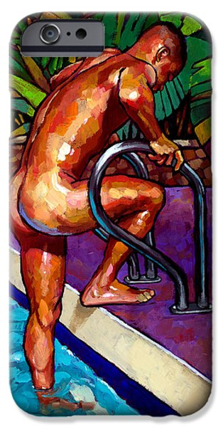 Wet From The Pool IPhone Case by Douglas Simonson
