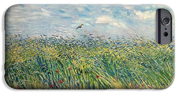 Wheatfield With Lark IPhone Case by Vincent van Gogh