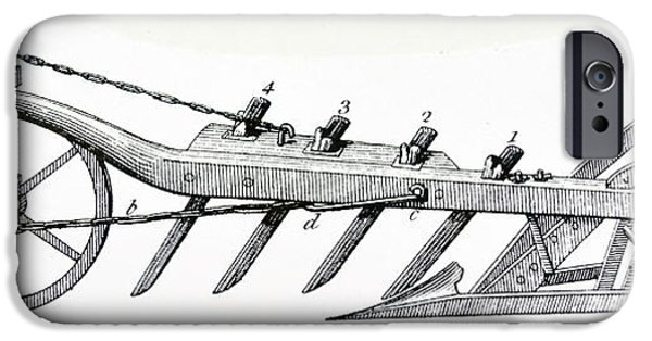 Wheeled Plough With Four Coulters IPhone Case by Universal History Archive/uig
