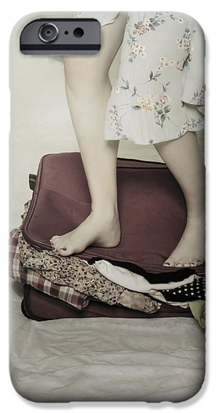 When A Woman Travels IPhone Case by Joana Kruse