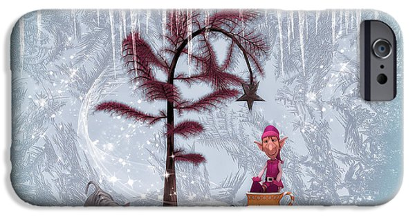 Whimsical Christmas IPhone Case by Jutta Maria Pusl