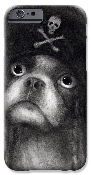 Whimsical Funny French Bulldog Pirate  IPhone 6s Case by Svetlana Novikova