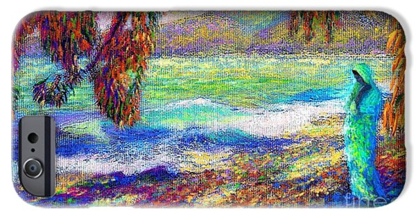 Whispering Waves IPhone Case by Jane Small