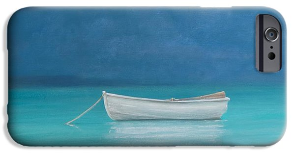 White Boat Kilifi  IPhone Case by Lincoln Seligman