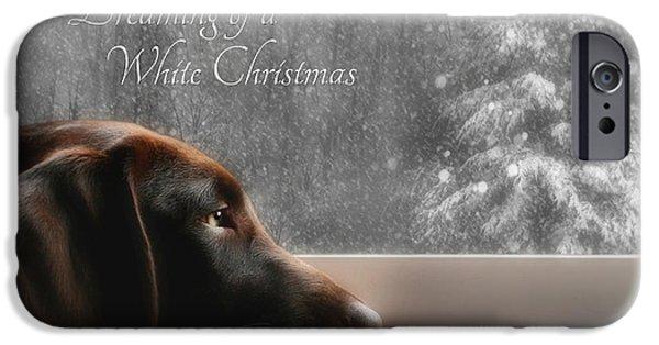 White Christmas IPhone Case by Lori Deiter
