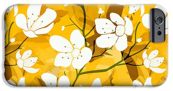 White Flowers Of Early Summer IPhone Case by Bedros Awak