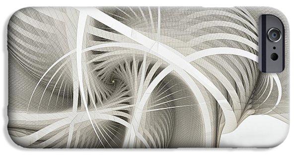 White Ribbons Spiral IPhone Case by Karin Kuhlmann