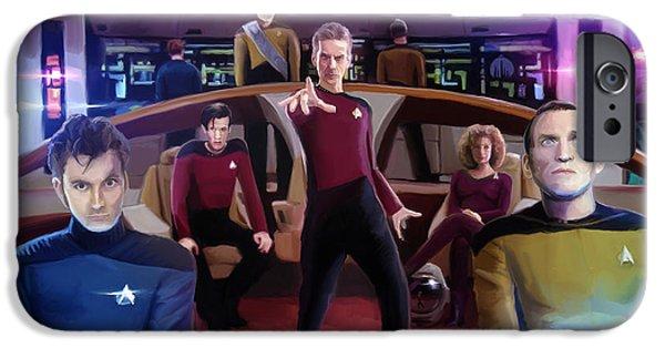 Who Trek IPhone Case by Brett Hardin