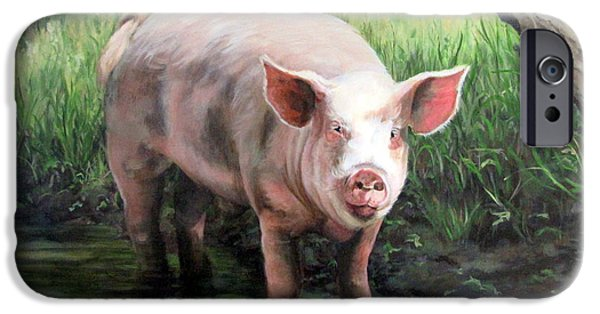 Wilbur In His Woods IPhone Case by Sandra Chase