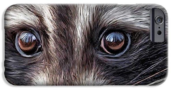 Wild Eyes - Raccoon IPhone 6s Case by Carol Cavalaris