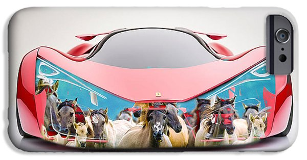 Wild Horses Ferrari F80 IPhone 6s Case by Marvin Blaine