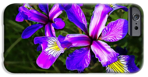 Wild Purple Iris IPhone Case by Bill Caldwell -        ABeautifulSky Photography